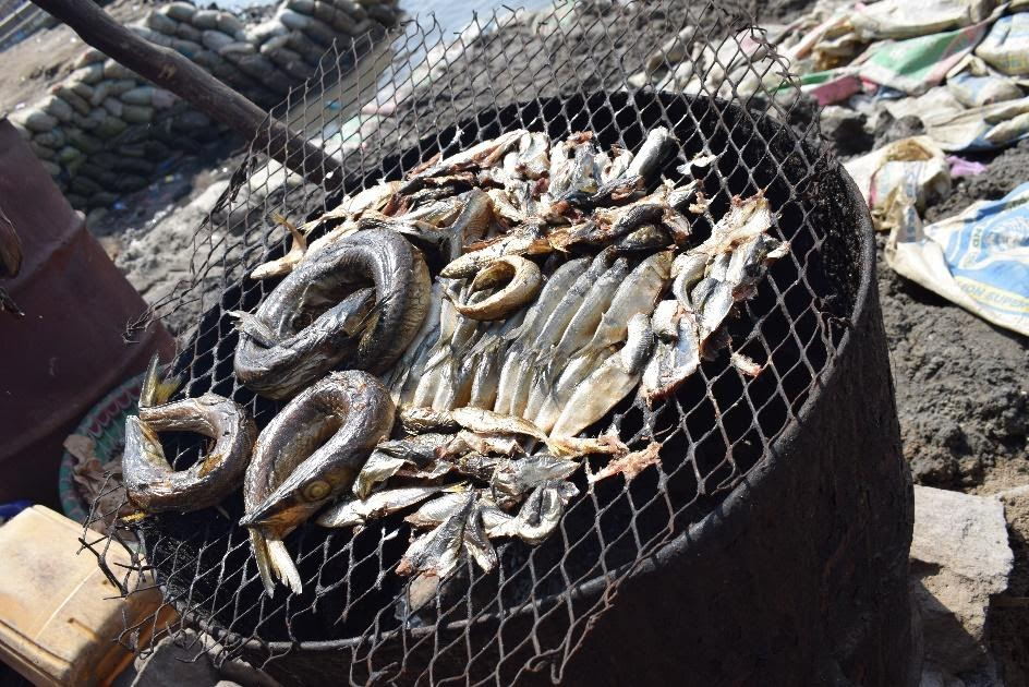 Locals engage in petty trade and fishing.