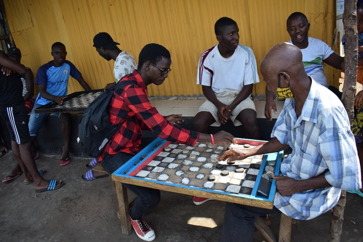 Youth engaged in social games