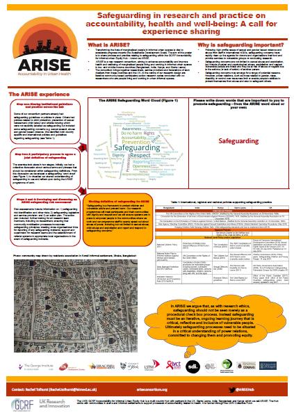 ARISE safeguarding poster