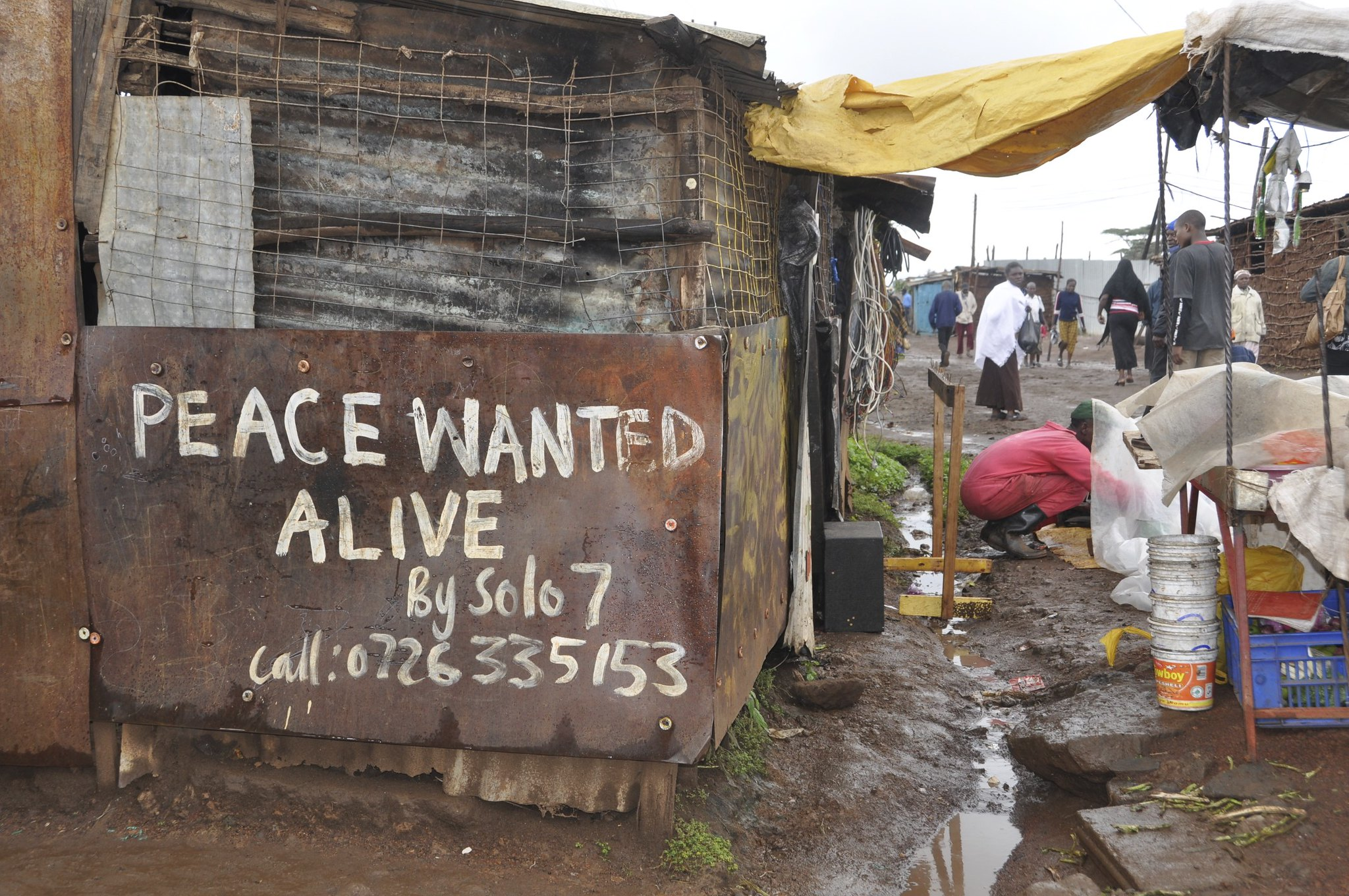 Election violence graffiti in Kibera