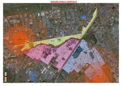Satellite image of Mukuru