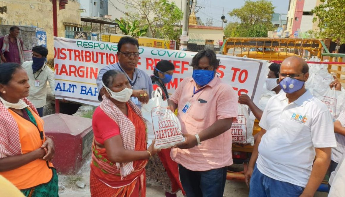 DBRC distribution of relief kits as part of the response