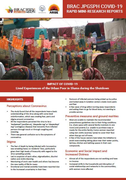 Shutdown in Bangladesh, title page of pdf