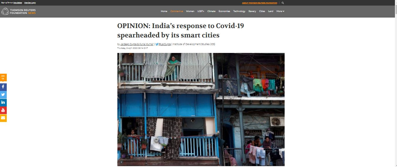 Smart cities and COVID-19