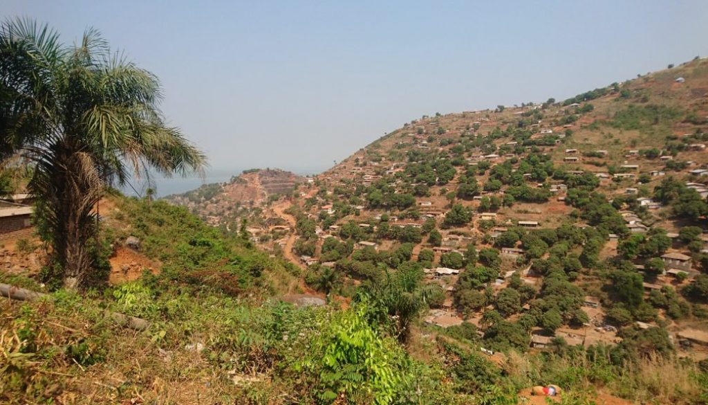 The experience of living a pandemic a view of Freetown from the hills