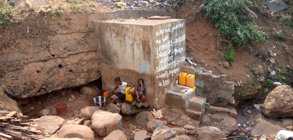 Informal settlement water supply in Freetown