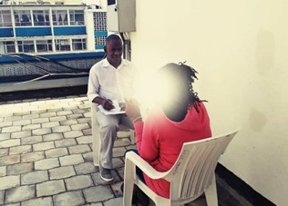 Counselling a client affected by violence
