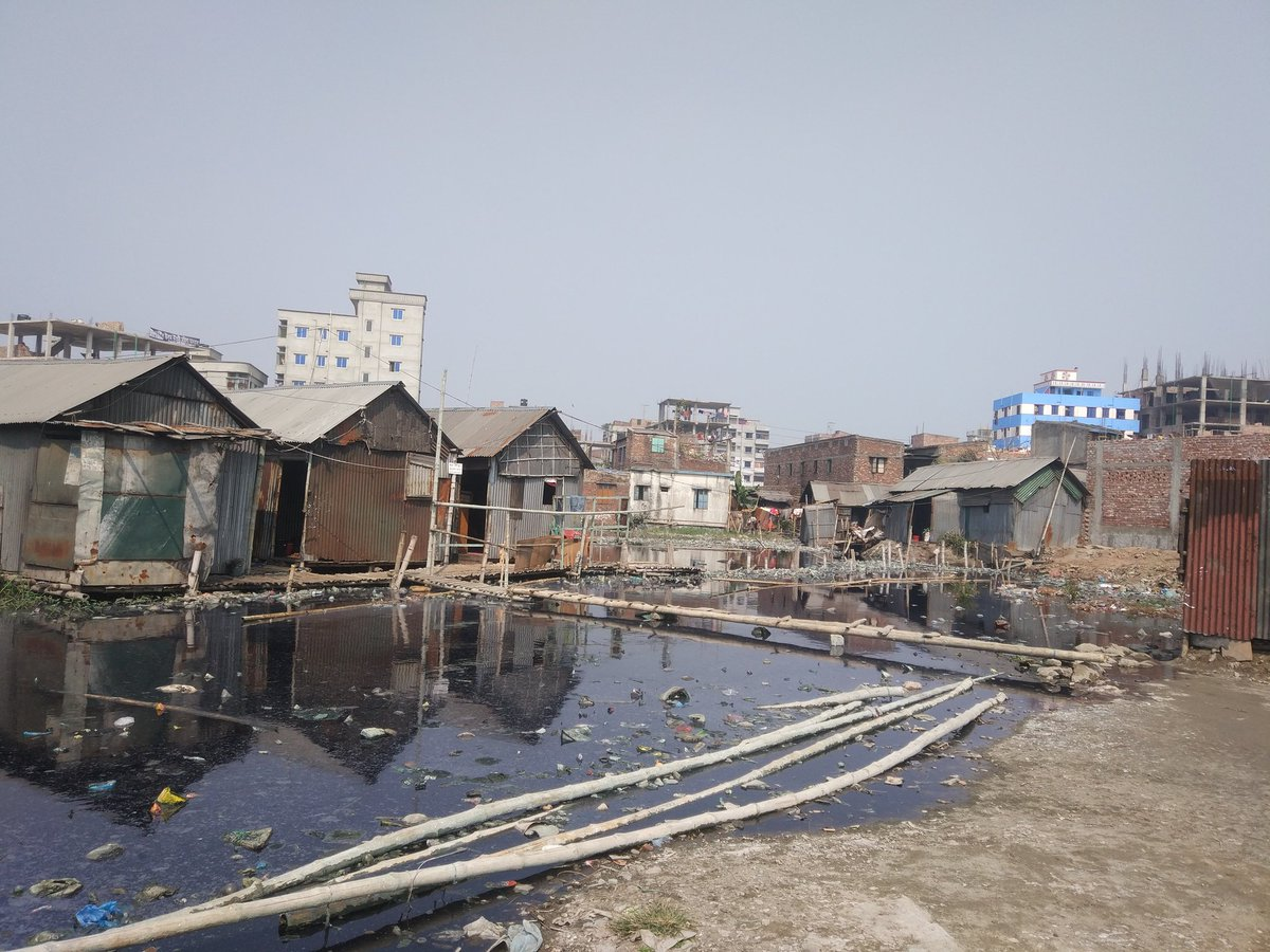industrial waste in the informal settlement