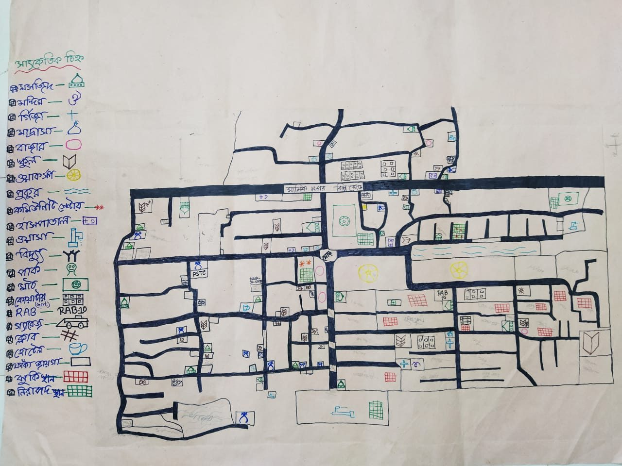 Hand drawn map of Dholpur