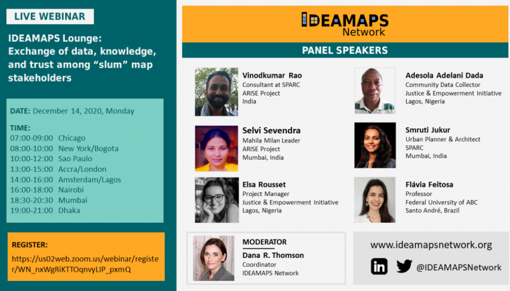 IDEAMAPS flyer for the event