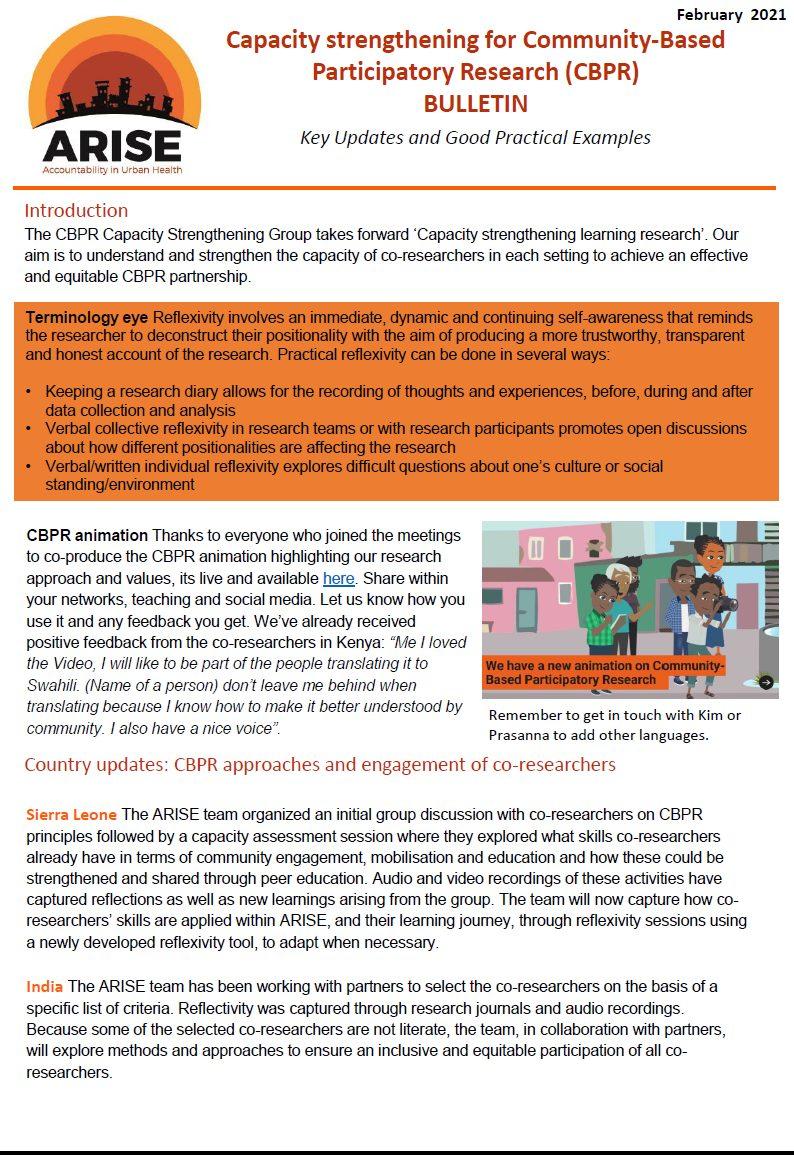 CBPR bulletin 2