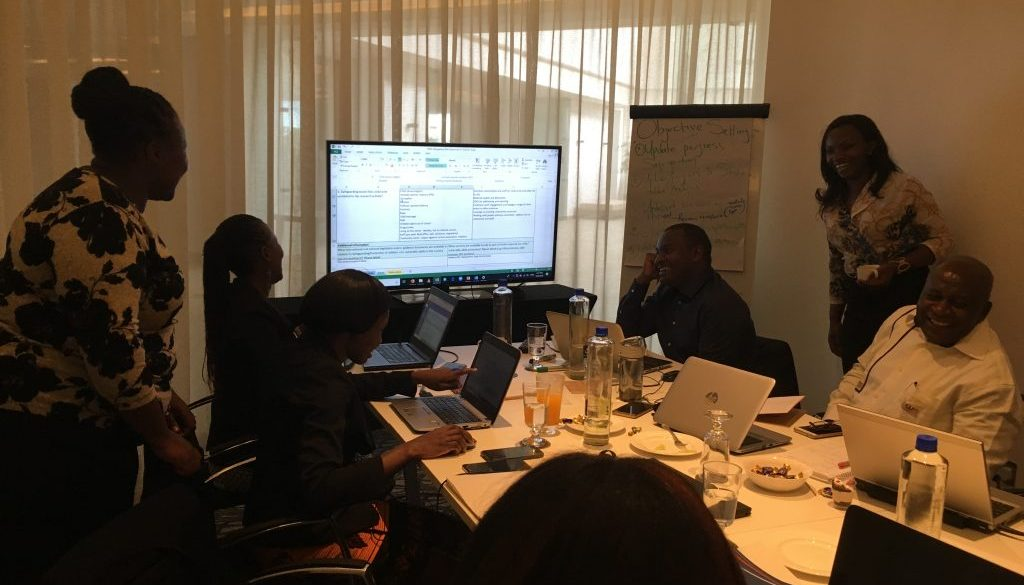 Kenya team working