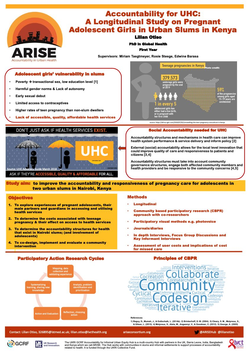 Accountability for UHC: A Longitudinal Study on Pregnant Adolescent Girls in Urban Slums in Kenya