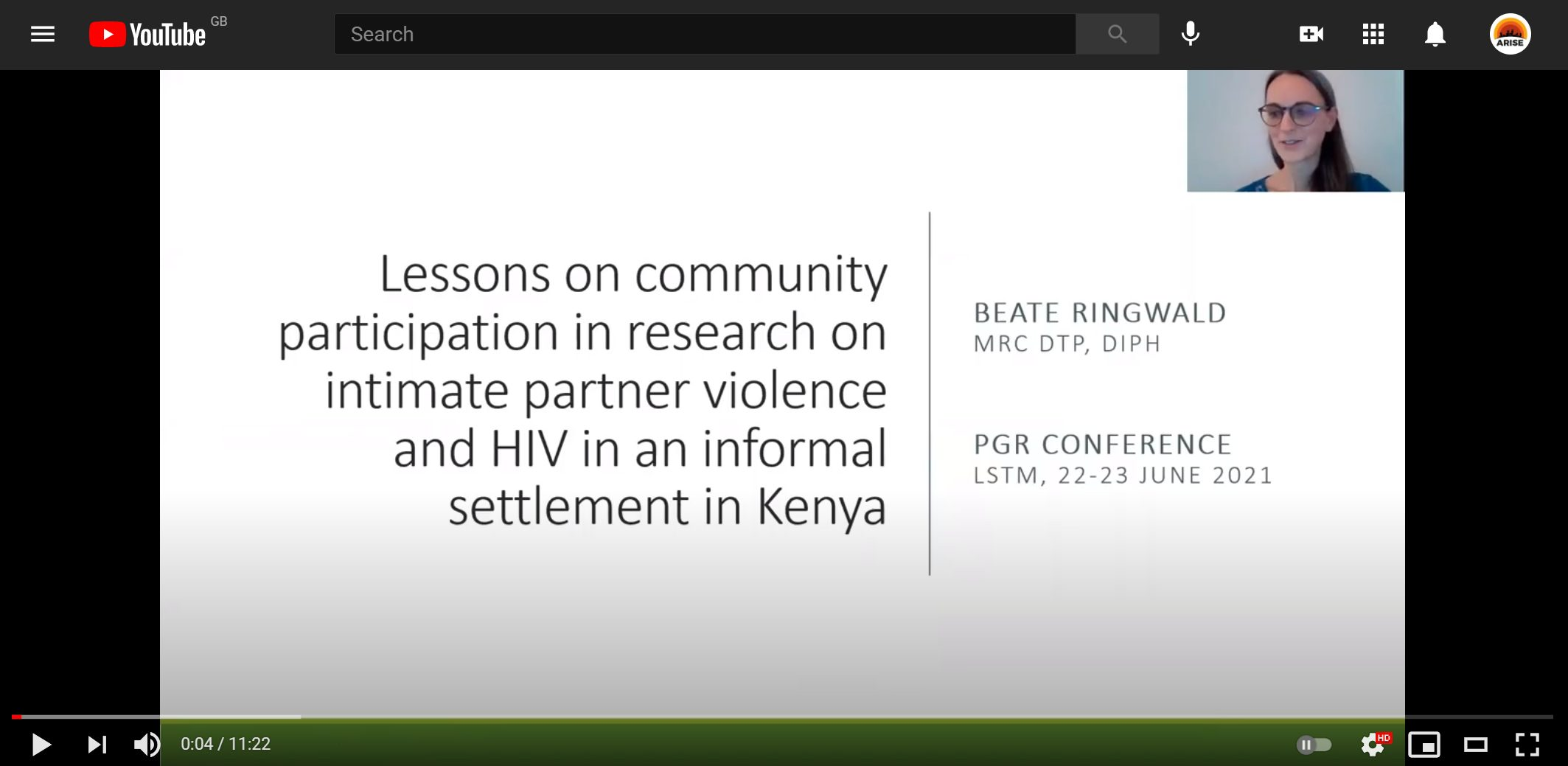 Participation in research on intimate partner violence and HIV